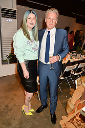 MARY KATE TREVASKIS and CHRIS GOOD at the Smashbox Influencer Dinner hosted by Lauren Laverne held at Carousel, 71 Blandford Street, London on 21st January 2016.