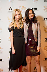 © Licensed to London News Pictures. 11/03/2017. London, UK. Made in Chelsea star Nicola Hughes with co star Lucy Watson attending the Digital Cinema Media screening of Beauty and the Beast during Ad Week at Picturehouse Central. Photo credit : David Tett/LNP