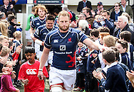 Captain Mark Bright leads out his team during the Green King IPA Championship Play-Off match between London Scottish &amp; Worcester at Richmond, Greater London on Saturday 2nd May 2015<br /> <br /> Photo: Ken Sparks | UK Sports Pics Ltd<br /> London Scottish v Worcester, Green King IPA Championship, 2nd May 2015<br /> <br /> &copy; UK Sports Pics Ltd. FA Accredited. Football League Licence No:  FL14/15/P5700.Football Conference Licence No: PCONF 051/14 Tel +44(0)7968 045353. email ken@uksportspics.co.uk, 7 Leslie Park Road, East Croydon, Surrey CR0 6TN. Credit UK Sports Pics Ltd