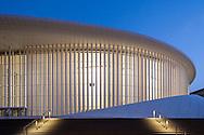 Europa, Luxemburg, Stadt Luxemburg, die Philharmonie auf dem Kirchbergplateau, Architekt Christian de Portzamparc. - <br /> <br /> Europe, Luxembourg, city of Luxembourg, the Philharmonie, concert hall at the Kirchbergplateau, architect Christian de Portzamparc.