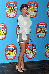 Michelle Keegan arrives at the show.<br /> Celebrities attend the opening night of new West End show 'I Can't Sing' at The London Palladium, London, UK. Wednesday, 26th March 2014. Picture by Ben Stevens / i-Images