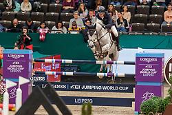 GULLIKSEN Geir (NOR), Gin Chin van het Lindenhof<br /> Leipzig - Partner Pferd 2020<br /> Longines FEI Jumping World Cup™Qualifikations-Prüfung<br /> Springprfg. nach Fehlern und Zeit, international<br /> 17. Januar 2020<br /> © www.sportfotos-lafrentz.de/Stefan Lafrentz