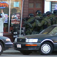 """Hostage Standoff"" Robbery suspect surrenders to swat team after hostage standoff ends in Lowell, MA. aljot"