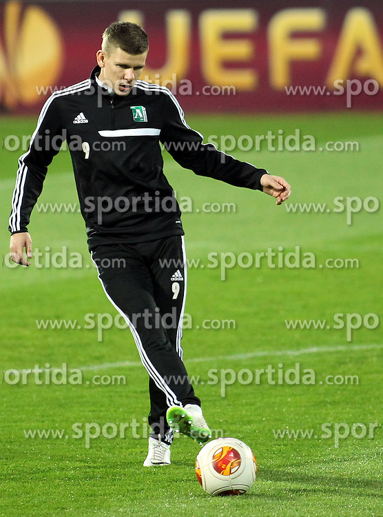 26.02.2014 Sofia(Bulgaria)<br /> Roman Bezjak at PFC Ludogorets Razgrad training  <br /> men's football<br /> Foto:Aleksandar Djorovic / Sportida.com