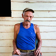 Portrait of Cuban farmer at his home in Vinales