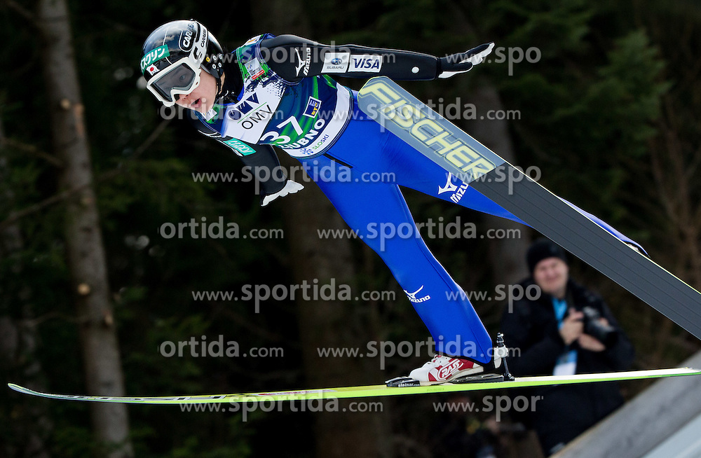 Yuki Ito (JPN) during Trial Round at Day 1 of World Cup Ski Jumping Ladies Ljubno 2015, on February 14, 2015 in Ljubno, Slovenia. Photo by Vid Ponikvar / Sportida