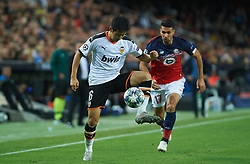November 5, 2019, Valencia, Valencia, Spain: Lee Kang-In of Valencia and Zeki Celik of Lille during the during the UEFA Champions League group H match between Valencia CF and Losc Lille at Estadio de Mestalla on November 5, 2019 in Valencia, Spain (Credit Image: © AFP7 via ZUMA Wire)