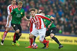 STOKE-ON-TRENT, ENGLAND - Sunday, January 4, 2015: Stoke City's Marko Arnautovic in action against Wrexham during the FA Cup 3rd Round match at the Britannia Stadium. (Pic by David Rawcliffe/Propaganda)