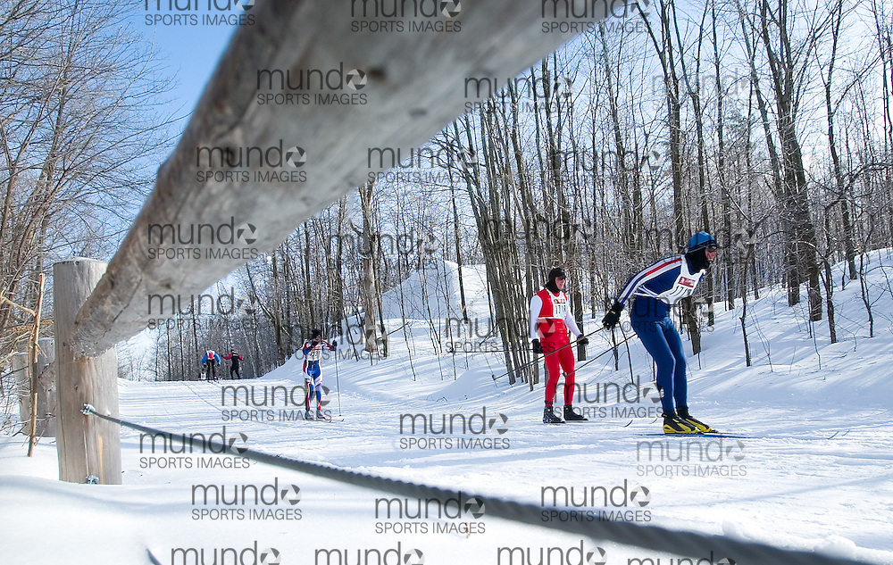 Ottawa, Ontario ---06/2/18--- Skiers pick up speed on a hill during the 5 km and 16 km race at the Keskinada Loppet in Gatineau Park Saturday afternoon..GEOFF ROBINS The Ottawa Sun<br />