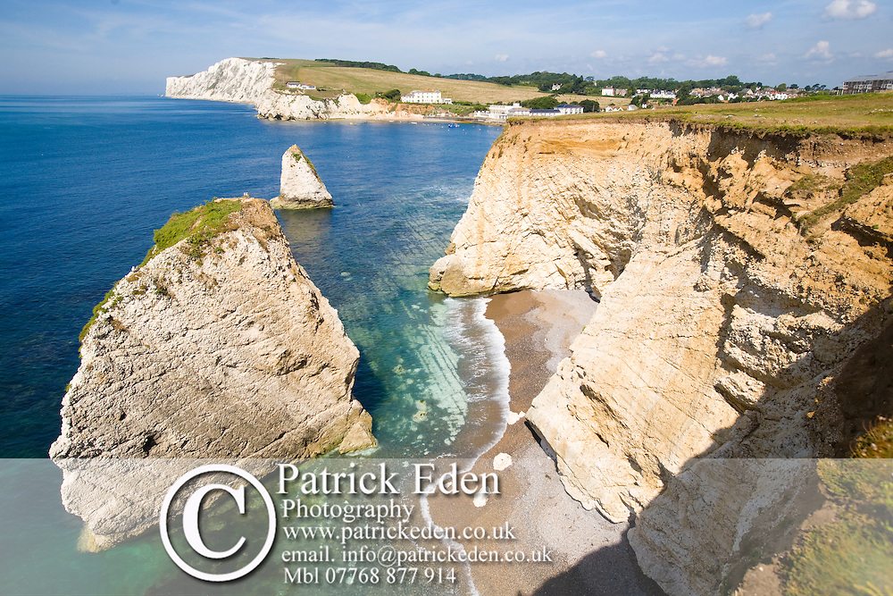 Seastack, Wave Cut Platform, Freshwater Bay, Beach, Freshwater, Tennyson Down, Isle of Wight, England, UK Photographs of the Isle of Wight by photographer Patrick Eden photography photograph canvas canvases