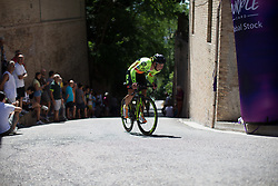 Janneke Ensing (NED) of Ale-Cipollini Cycling Team rides near the top of the final climb of Stage 5 of the Giro Rosa - a 12.7 km individual time trial, starting and finishing in Sant'Elpido A Mare on July 4, 2017, in Fermo, Italy. (Photo by Balint Hamvas/Velofocus.com)