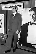 08/02/1966<br /> 02/08/1966<br /> 08 February 1966<br /> Fashion Show at I.C.I. Hawkins House. Vincent wearing  a two piece suit by Weartex.