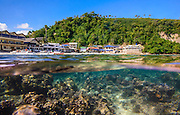 Photo shows the clear waters of Big La Laguna Beach in Puerto Galera, the Philippines.