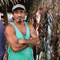 Fare, Huahine, French Polynesia, town scene, market