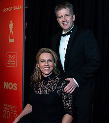 18-12-2019 NED: Sports gala NOC * NSF 2019, Amsterdam<br /> The traditional NOC NSF Sports Gala takes place in the AFAS in Amsterdam / Esther Vergeer en partner Marijn Zaal