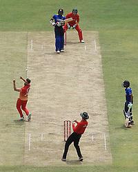 July 8, 2017 - Colombo, Sri Lanka - Zimbabwe cricket captain Graeme Cremer(L) misses a catch to dismiss Sri Lanka's Danushka Gunathilaka  during the 4th One Day International cricket matcth between Sri Lanka and Zimbabwe at ..Mahinda Rajapaksa International Cricket Stadium, (southern part of Sri Lanka) at Hambantota, ..Sri Lanka on Saturday 7 th July 2017  (Credit Image: © Tharaka Basnayaka/NurPhoto via ZUMA Press)