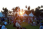 Sun sets on the fans at the 2010 Coachella Music Festival in Indio, CA on Friday, April 16, 2010.
