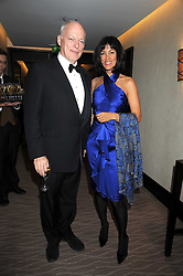 DAVID GILMOUR and his wife writer POLLY SAMSON at the 2008 Costa Book Awards held at the Intercontinental Hotel, Hamilton Place, London on 27th January 2009.