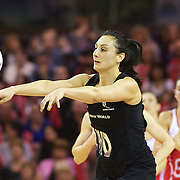 Joline Henry, New Zealand, in action during the New Zealand V England, New World International Netball Series, at the ILT Velodrome, Invercargill, New Zealand. 6th October 2011. Photo Tim Clayton...