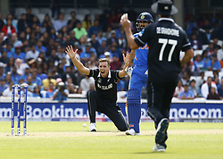 May 25, 2019 - London, England, United Kingdom - Tim Southee of New Zealand claims LBW not given.during ICC World Cup - Warm - Up between India and New Zealand at the Oval Stadium , London,  on 25 May 2019.Credit Action Foto Spor  (Credit Image: © Action Foto Sport/NurPhoto via ZUMA Press)
