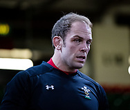 Alun Wyn Jones of Wales <br /> <br /> Photographer Simon King/Replay Images<br /> <br /> Six Nations Round 5 - Wales v Ireland Captains Run - Saturday 15th March 2019 - Principality Stadium - Cardiff<br /> <br /> World Copyright © Replay Images . All rights reserved. info@replayimages.co.uk - http://replayimages.co.uk