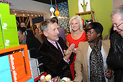 SIMON DOONAN; STARRETT ZENKO; TAMEKA EMPSON, Jonathan Adler Store opening. Sloane St. London. 16 November 2011. <br /> <br />  , -DO NOT ARCHIVE-© Copyright Photograph by Dafydd Jones. 248 Clapham Rd. London SW9 0PZ. Tel 0207 820 0771. www.dafjones.com.