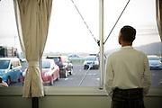 A man living in temporary housing, Onagawa, Japan.