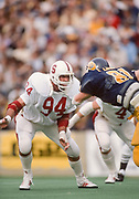 COLLEGE FOOTBALL:  Stanford vs Cal in the annual Big Game on November 17, 1984 at Memorial Stadium in Berkeley, California.  Mike Noble #94.  Photograph by David Madison | www.davidmadison.com