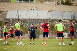Bristol City head coach Lee Johnson gives instructions to his players - Mandatory by-line: Matt McNulty/JMP - 21/07/2017 - FOOTBALL - Tenerife Top Training Centre - Costa Adeje, Tenerife - Pre-Season Training