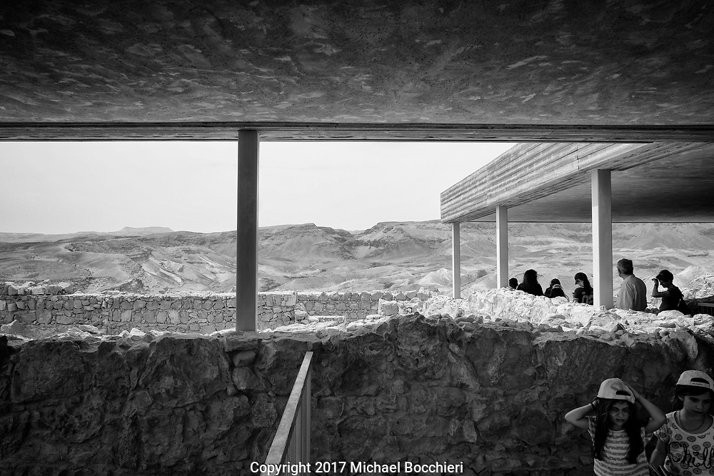 MASADA,  - April 09: Masada ancient fortification in the Southern District of Israel situated on top of an isolated rock plateau on April 09, 2017 in MASADA, Israel.  (Photo by Michael Bocchieri/Bocchieri Archive)