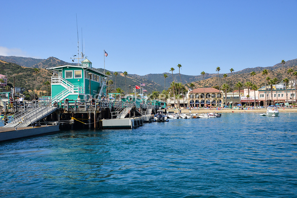 Green Pleasure Pier at Avalon Harbor Catalina Island