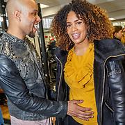 NLD/Hilversum/20180114 - opening Personal Power Gym Hilversum, zwangere Sharon Doorson en partner Brunno Moneiro Tavares
