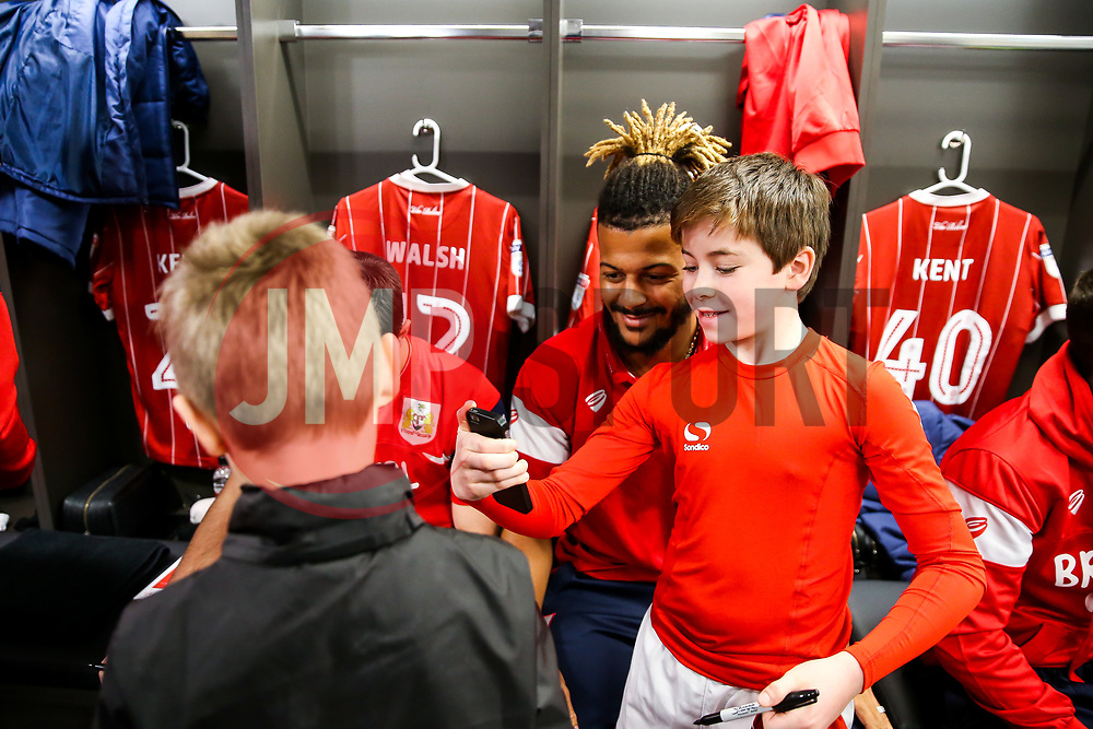 Lois Diony of Bristol City looks on during the Mascot dressing room visit - Rogan/JMP - 27/01/2018 - Ashton Gate Stadium - Bristol, England - Bristol City v Queens Park Rangers - Sky Bet Championship.