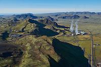 Hellisheiðarvirkjun Geothermal Power Plant, Iceland.
