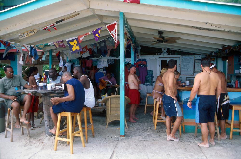 The Soggy Dollar Bar at Sandcastle Resort, Jost Van Dyke, British Virgin Islands.