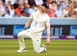 England's Ben Stokes during day four of the First NatWest Test Series match at Lord's, London.
