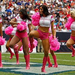 October 10, 2010; Houston, TX USA; Houston Texans cheerleaders perfrom during the first half of a game between the Houston Texans and the New York Giants at Reliant Stadium. Mandatory Credit: Derick E. Hingle