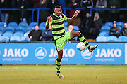 Forest Green Rovers Ethan Pinnock(16) \on the ball during the Vanarama National League match between Macclesfield Town and Forest Green Rovers at Moss Rose, Macclesfield, United Kingdom on 12 November 2016. Photo by Shane Healey.