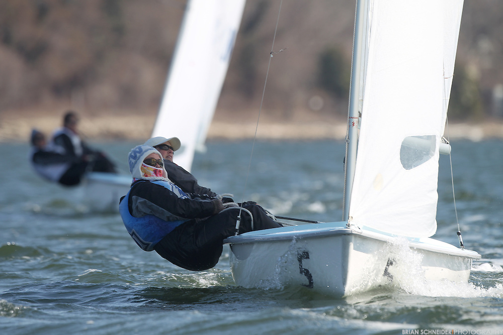 March 9, 2014; Annapolis, MD, USA; Old Dominion Monarchs compete in the Navy Women's Intercollegiate Sailing Regatta in Annapolis, MD just off the campus of the United States Naval Academy's Robert Crown Center on the banks of the Severn River and Chesapeake Bay. Mandatory Credit: Brian Schneider/www.ebrianschneider.com