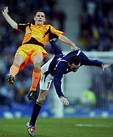 Fotball<br /> Play Off EM 2004<br /> Skottland v Nederland<br /> 15.11.2003<br /> Foto: Digitalsport<br /> Norway Only<br /> <br /> glasgow , 15-11-2003 , hampden park , schotland - nederland 1-0 , play-off voor het ek2004 . andre ooijer