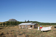 Bold Point farm on the outskirts of Hogsback. This land was purchased by Government to use for low cost housing in 1998. The development was finally give the go ahead in 2011 but was blocked by a legal challenge in 2012 by the local forestry company who say the development would be a fire risk. Out of frustration people have begun to build there anyway.<br /> <br /> During Apartheid the workers in the mountain retreat town of Hogsback were not allowed to own their own property. They had to reside on their employer&rsquo;s properties or commute from the Ciskei homeland in the valley below.<br /> <br /> Since the early 1990&rsquo;s the workers in Hogsback have been trying to get the go ahead for a low cost housing development but continue to face delays and legal challenges. The Legal Resources Centre is representing the Hogsback workers in negotiations to find a suitable site for the low cost housing development.<br /> <br /> &copy;Zute &amp; Demelza Lightfoot / Legal Resources Centre