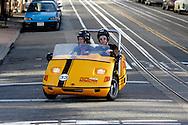 """US-SAN FRANCISCO: Tourists in a """"GoCar"""" . PHOTO: GERRIT DE HEUS"""