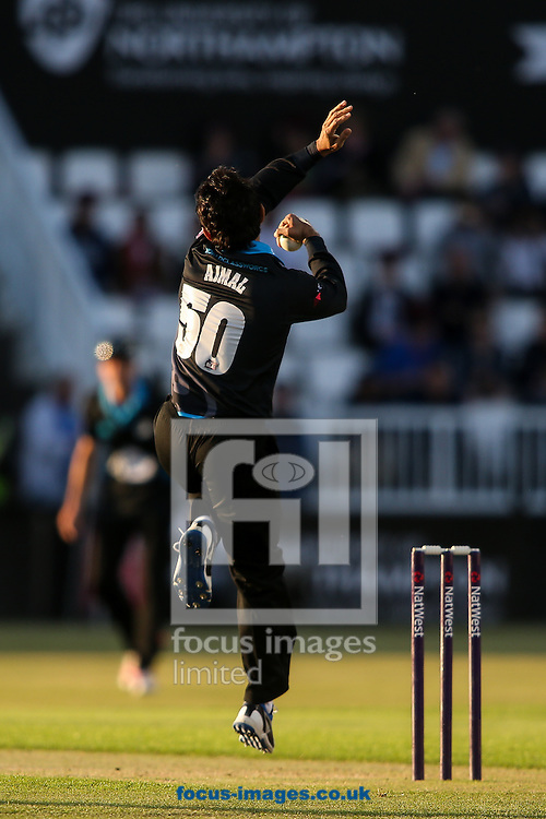 Saeed Ajmal of Worcestershire Rapids in delivery stride during the Natwest T20 Blast match at the County Ground, Northampton<br /> Picture by Andy Kearns/Focus Images Ltd 0781 864 4264<br /> 05/06/2015