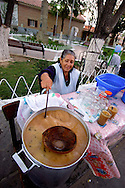 Bolivia. Tarija. Festa di San Roque..Cold broth of peanuts, Aloja, totally non-alcoholic drink, is in its way the queen of the party.