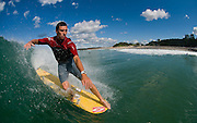 May 4 2011: Dane Pioli hangs five at Duranbah Beach on the NSW and QLD border.