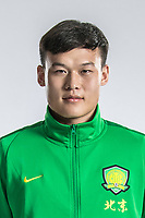 **EXCLUSIVE**Portrait of Chinese soccer player Zhang Yan of Beijing Sinobo Guoan F.C. for the 2018 Chinese Football Association Super League, in Shanghai, China, 22 February 2018.
