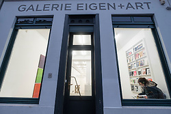 Exterior of  Galerie Eigen+Art , art gallery on Auguststrasse a street with many art galleries in Mitte Berlin Germany