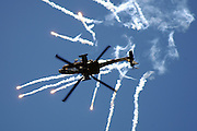 AH-64, RAF, popping flares while inverted