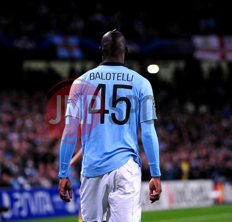Manchester City's Mario Balotelli - Photo mandatory by-line: Joe Meredith/JMP  - Tel: Mobile:07966 386802 03/10/2012 - Manchester City v Borussia Dortmund - SPORT - FOOTBALL - Champions League -  Manchester   - Etihad Stadium -