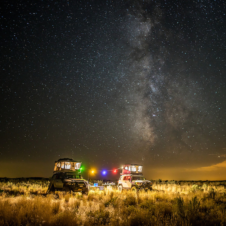 This photo was captured on my last trip to Alaska.  On our way north from Southern California we spent one night at the Craters of the Moon National Monument in Idaho.  This was our campsite for the night.
